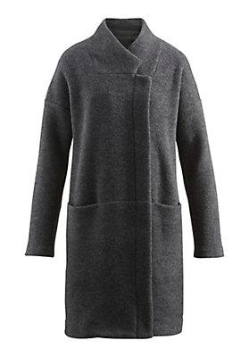 - Damen Wollfleece-Mantel aus reiner Schurwolle