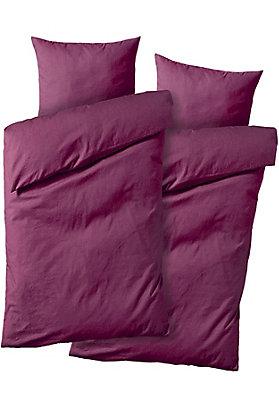 bettwaesche-setpreise - Doppelbett-Set: Biber-Bettwäsche aus reiner Bio-Baumwolle