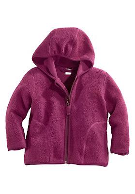 - Fleece-Jacke aus reiner Bio-Baumwolle