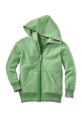 - Fleece-Kapuzenjacke aus reiner Bio-Baumwolle