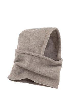 - Fleece-Kapuzenschal aus reiner Bio-Schurwolle
