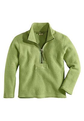 - Fleece-Troyer aus reiner Bio-Baumwolle