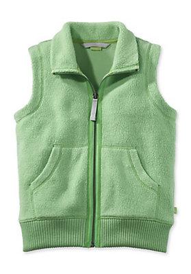 - Fleece-Weste aus reiner Bio-Baumwolle