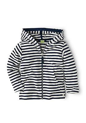 - Frottee Jacke geringelt aus reiner Bio-Baumwolle