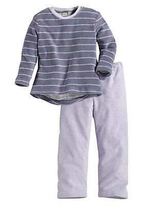 Schlafwäsche - Frottee Schlafanzug aus reiner Bio-Baumwolle