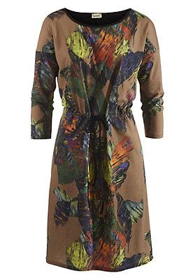 - Gemustertes Kleid aus reiner Bio-Baumwolle