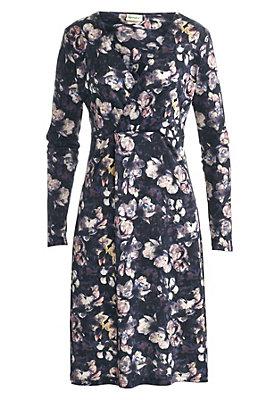 - Gemustertes Kleid mit Seide