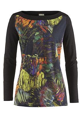 - Gemustertes Shirt aus reiner Bio-Baumwolle