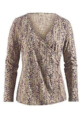 - Gemustertes Wickelshirt aus Bio-Baumwolle