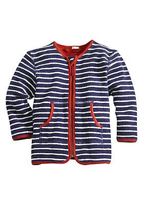 - Geringelte Frottee Jacke aus reiner Bio-Baumwolle