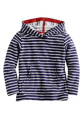 - Geringeltes Frottee Sweatshirt aus reiner Bio-Baumwolle
