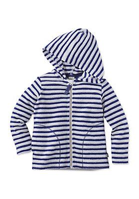- Gestreifte Frottee Jacke aus reiner Bio-Baumwolle
