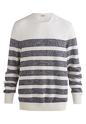 - Gestreifter Pullover aus reiner Bio-Baumwolle