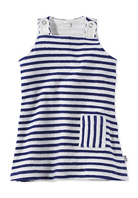 - Gestreiftes Frottee Kleid aus reiner Bio-Baumwolle