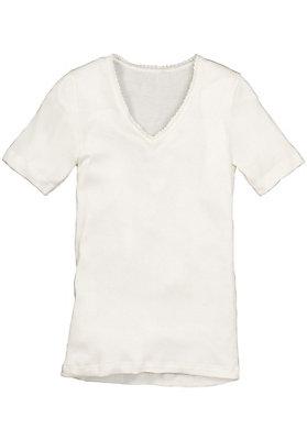 Unterhemden - Halbarmhemd aus Bio-Baumwolle und Seide