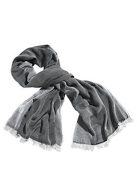 - Handgewebter Schal aus Schurwolle mit Baumwolle