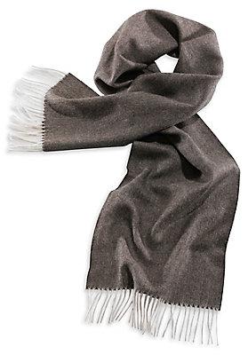- Herren Alpaka-Schal mit Fischgrat-Muster
