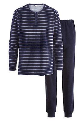 - Herren Frottee-Pyjama aus reiner Bio-Baumwolle