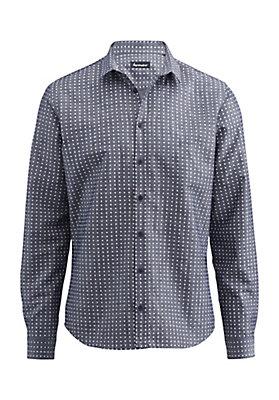 - Herren Hemd Modern Fit aus Bio-Baumwolle mit Leinen
