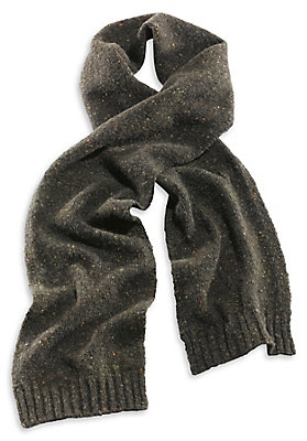 - Herren Tweed-Schal aus reiner Schurwolle