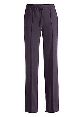 - Hose aus Modal mit Schurwolle