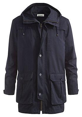 - Jacke mit Kapuze aus reiner Bio-Baumwolle