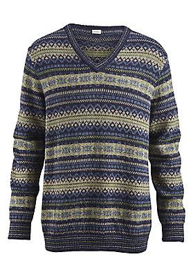 - Jacquard-Pullover aus reinem Alpaka