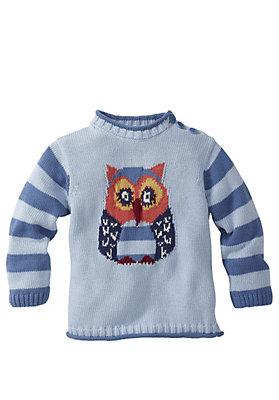 kindergarten - Jacquard-Pullover aus reiner Bio-Baumwolle