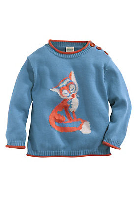Pullover-und-Strickjacken Babies - Jacquard-Pullover aus reiner Bio-Baumwolle