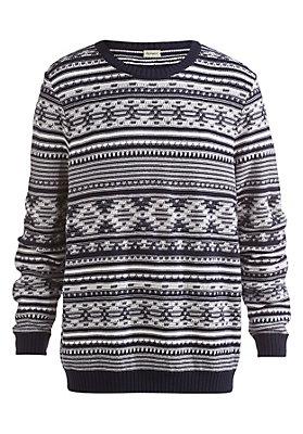 - Jacquard-Pullover aus reiner Bio-Baumwolle