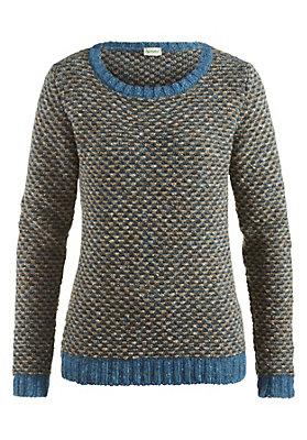 - Jacquard Pullover aus reiner Schurwolle