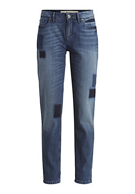 "- Jeans Relaxed Fit ""Patches"" aus Bio-Baumwolle"