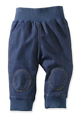 - Jeans mit Bund aus reiner Bio-Baumwolle