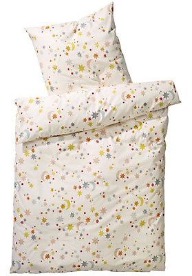 """- Kinder Bettwäsche """"Sterne"""" aus reiner Bio-Baumwolle"""