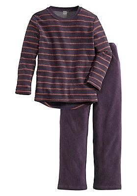 - Kinder Frottee-Schlafanzug aus reiner Bio-Baumwolle