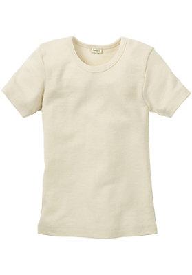 - Kinder Halbarm-Hemd aus reiner Bio-Merinowolle