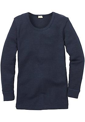 - Kinder Langarm-Hemd aus reiner Bio-Merinowolle