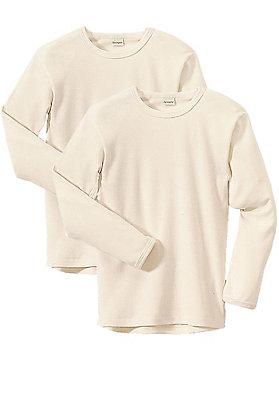 - Kinder Langarm-Hemd im 2er-Set aus reiner Bio-Baumwolle