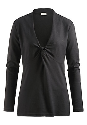 kaschmir - Knotenshirt aus Bio-Baumwolle mit Kaschmir