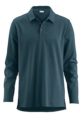 kw38-haka-basics - Langarm Poloshirt aus reiner Bio-Baumwolle