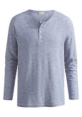 - Langarm-Shirt aus Hanf mit Bio-Baumwolle