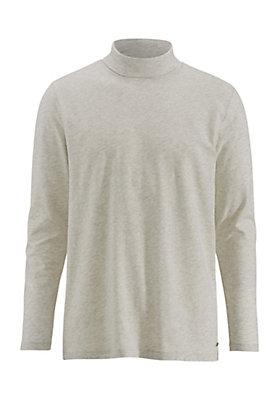 - Langarm-Shirt mit Rollkragen aus reiner Bio-Baumwolle