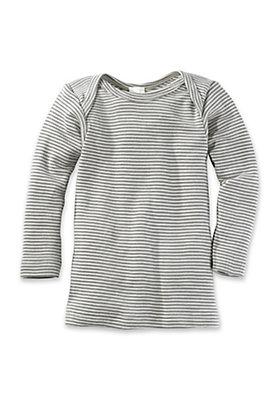 - Langarmhemd aus Bio-Merinowolle mit Seide
