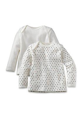 - Langarmhemd aus reiner Bio-Baumwolle 2er-Set