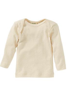 - Langarmhemd aus reiner Bio-Merinowolle
