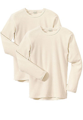 Unterhemden - Langarmhemd im 2er-Set aus reiner Bio-Baumwolle
