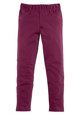pinke-maedchenkleidung - Leggings aus Bio-Baumwolle