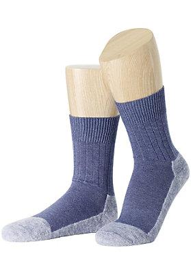 Strümpfe - Leichte Wandersocke aus Bio-Baumwolle mit Schurwolle