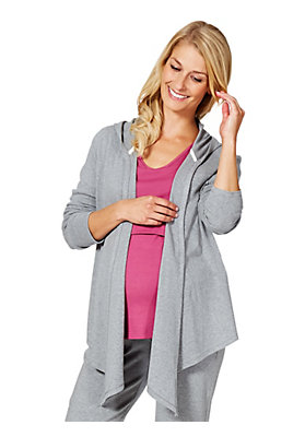 - Long Jacke aus reiner Bio-Baumwolle