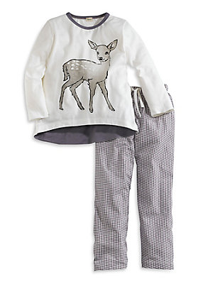 - Mädchenpyjama aus reiner Bio-Baumwolle